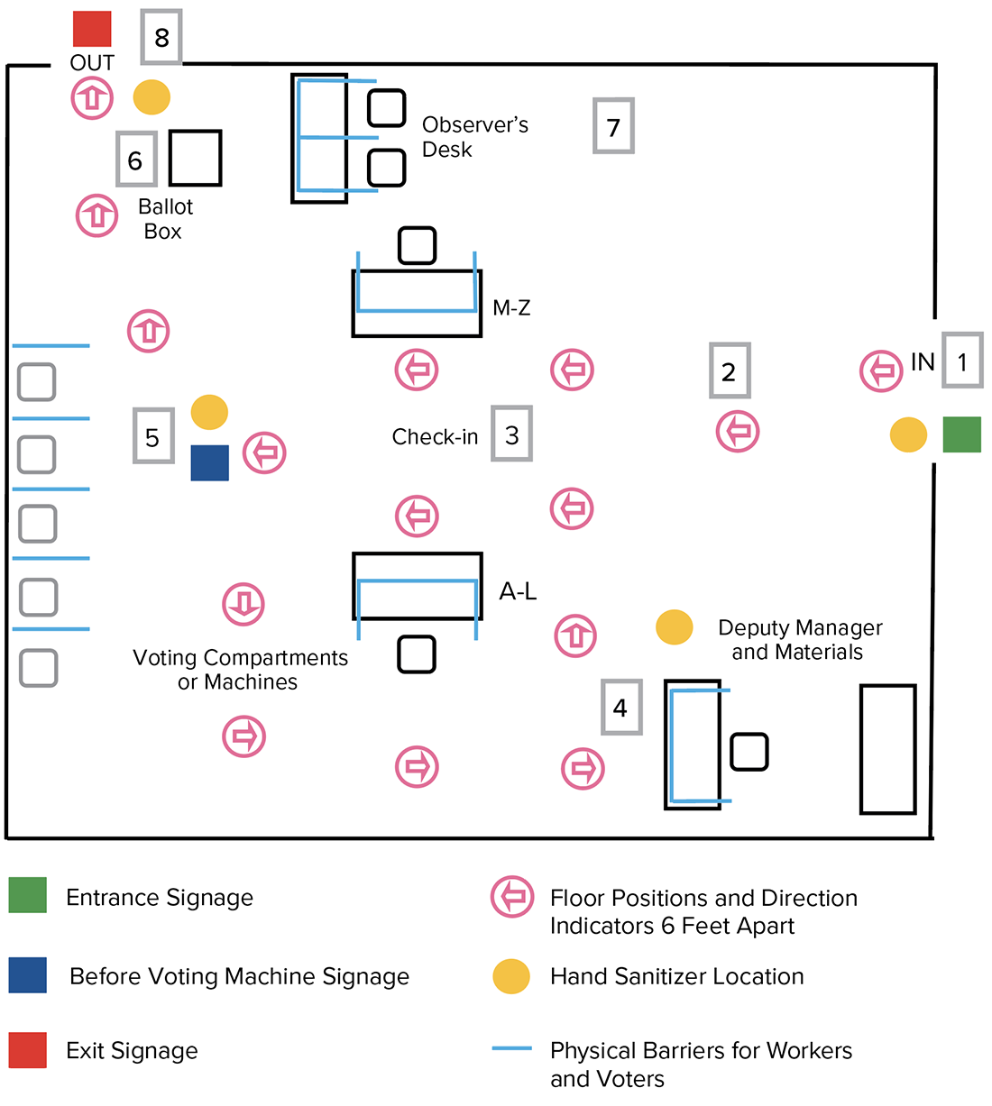 Acro Display Election Floor Plan